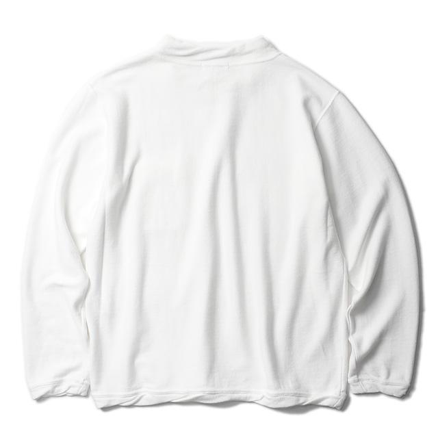 RADIALL SLOW BURN - MOCK NECK SWEATSHIRT L/S (WHITE)
