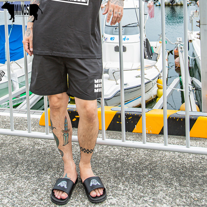 MINOS WALL LOGO BEACH SHORTS [MNS15-PT03]