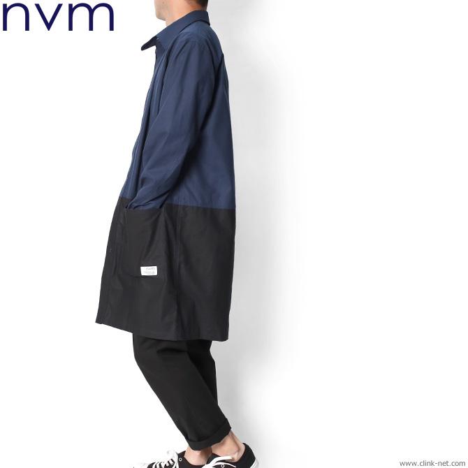 NVM SHIRTS COAT (NVY×BLK) [NVM18S-JK01]