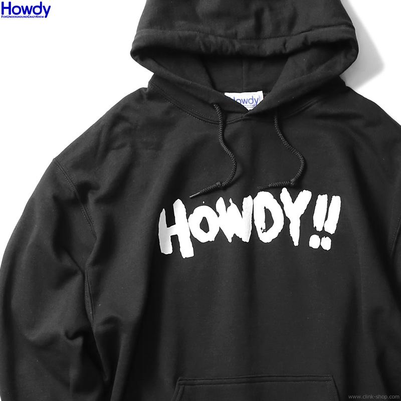 Howdy Paint Logo Hoody (BLACK) [HWD2003-SW02]