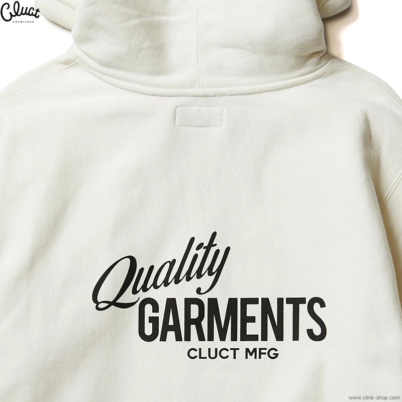CLUCT QUALITY GARMENTS [HOODIE] (BONE) #04316