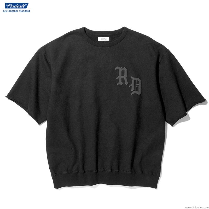 RADIALL CRUISE - CREW NECK SWEAT SHIRT S/S (BLACK)