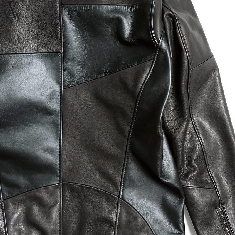 VIRGO SPCIAL PAZZLE LEATHER JKT (BLACK) [VG-JKT-329]