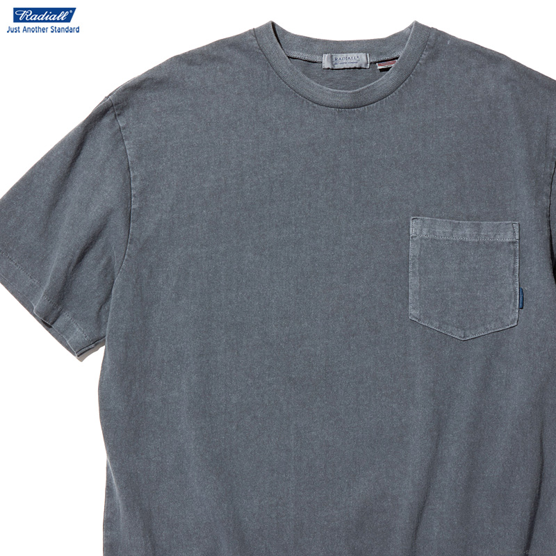 RADIALL EL CAMINO - CREW NECK POCKET T-SHIRT S/S (INK BLACK)