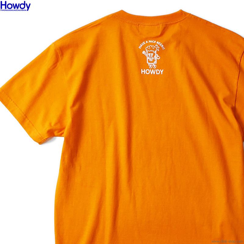 Howdy Logo Tee 2 (ORANGE) [HWD2101-TE01]