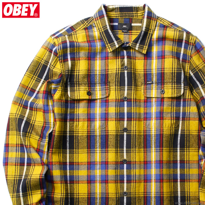 OBEY RUSSEL WOVEN (GOLD MULTI)