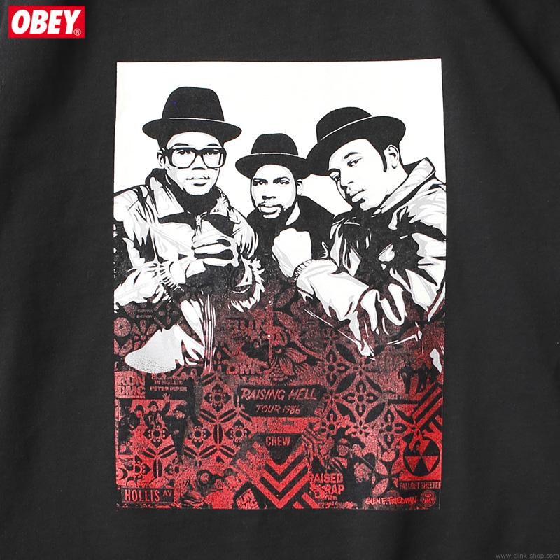 """OBEY HEAVYWEIGHT BOX TEE """"OBEY×RUN-DMC×GEF"""" (BLACK) [OBEY×GLEN E. FRIEDMAN """"TOGETHER FOREVER"""" LTD.]"""