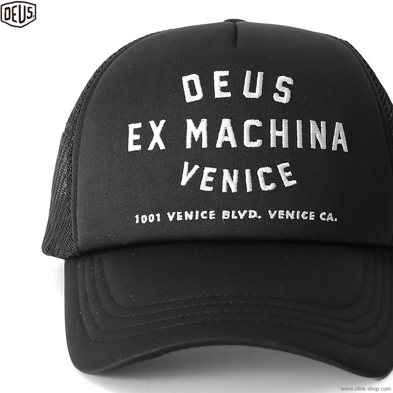 DEUS EX MACHINA VENICE ADDRESS TRUCKER (BLACK)