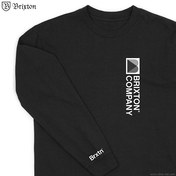 BRIXTON STOWELL VIII L/S STANDARD TEE (WASHED BLACK)