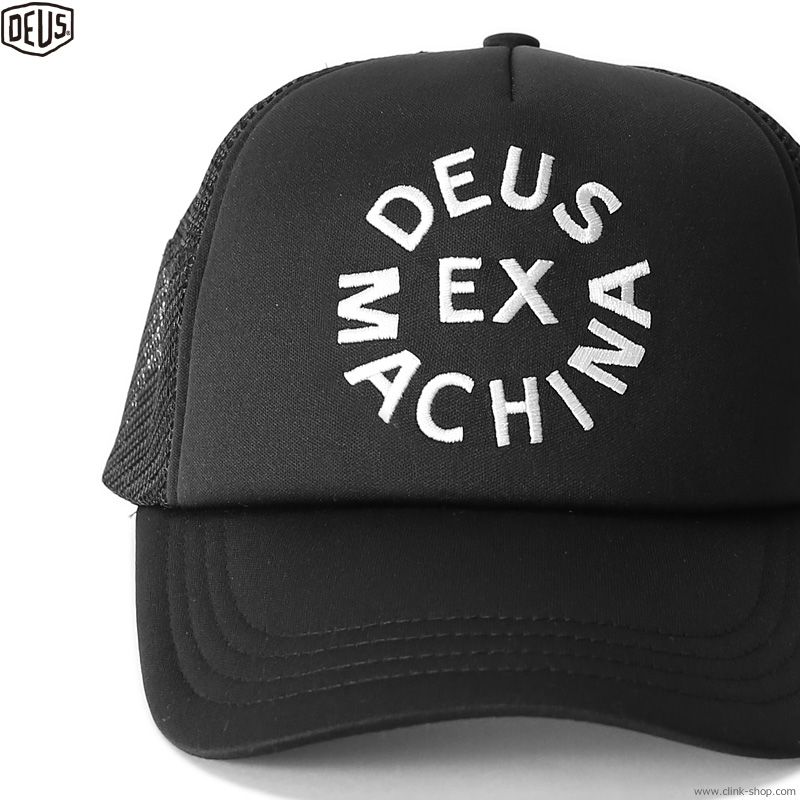 DEUS EX MACHINA CIRCLE LOGO TRUCKER (BLACK)