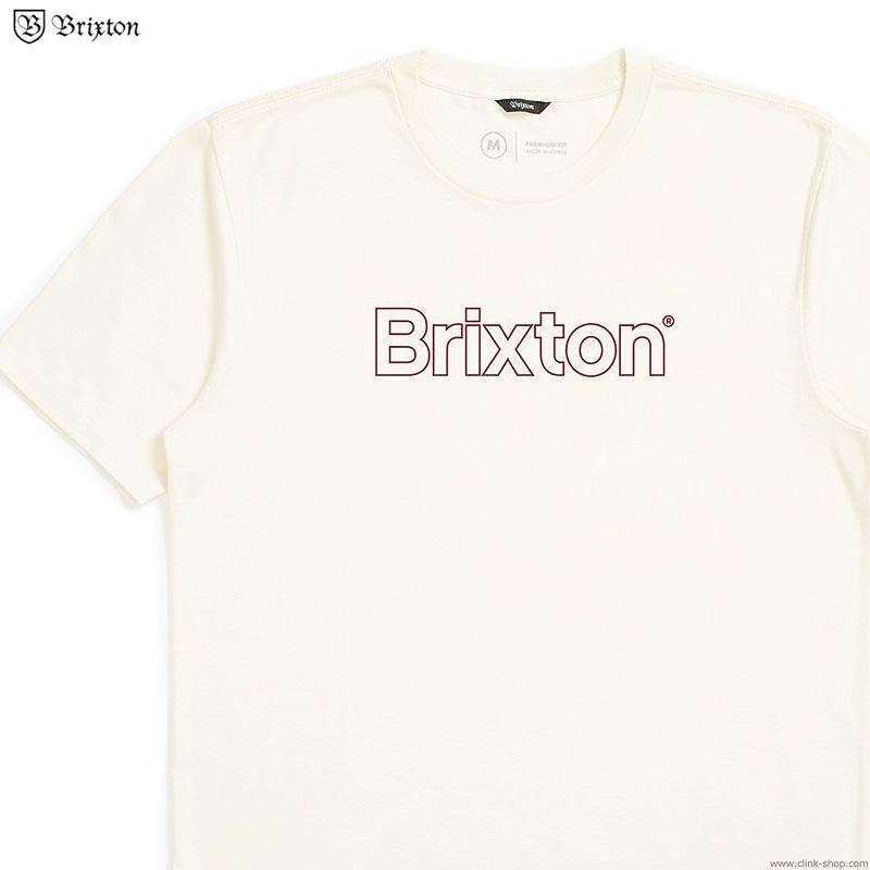 BRIXTON BARRIER S/S PREMIUM TEE (DOVE)