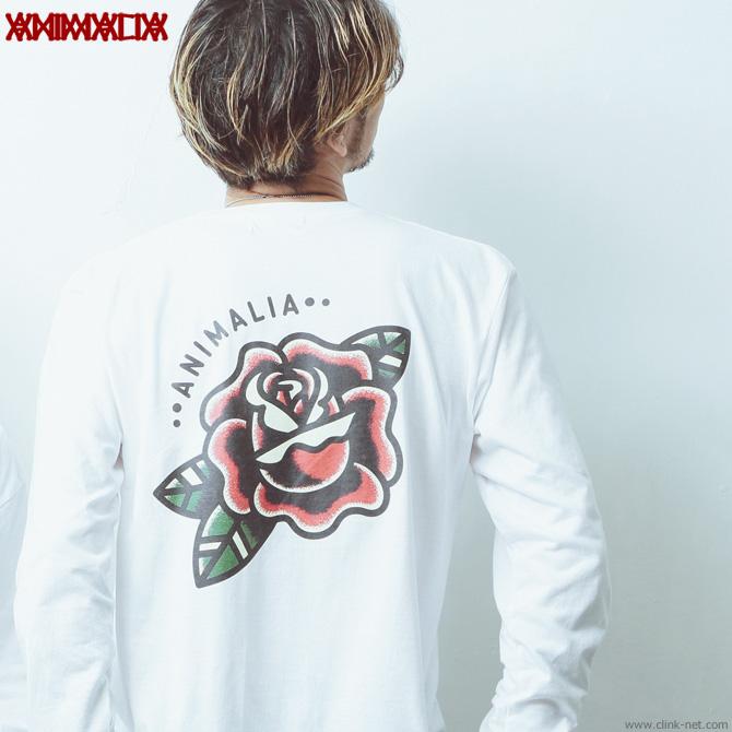 ANIMALIA L/S Tee - ROSE (WHITE) [AN19W-TE02]