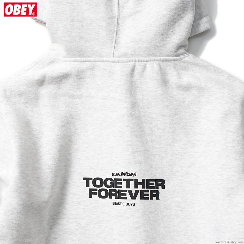 "OBEY BOX FIT PREMIUM HOOD ""OBEY×BEASTIE BOYS×GEF"" (ASH GRAY) [OBEY×GLEN E. FRIEDMAN ""TOGETHER FOREVER"" LTD.]"