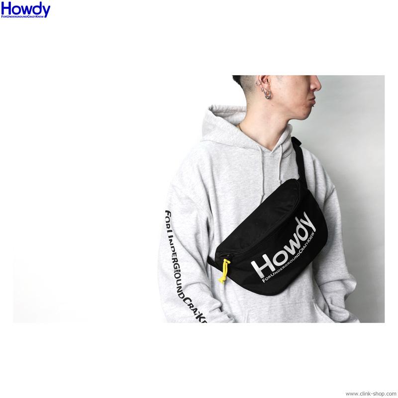 Howdy Logo Body Bag (BLACK) [HWD2003-AC01]