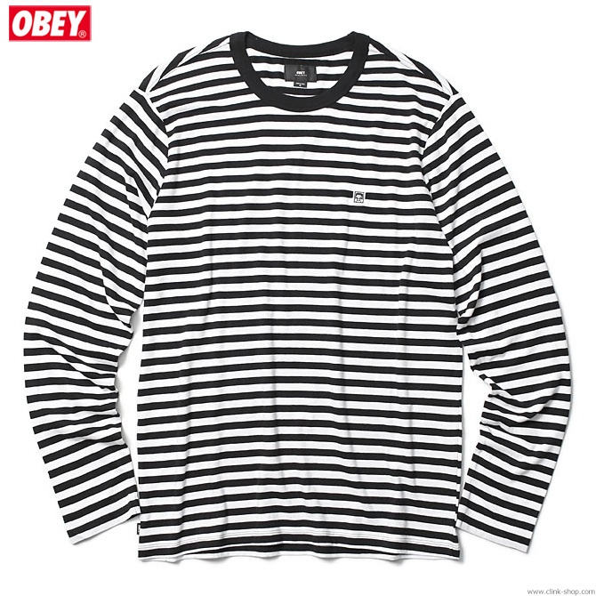 ★SALE★ OBEY EIGHTY NINE ICON TEE LS (BLACK MULTI)