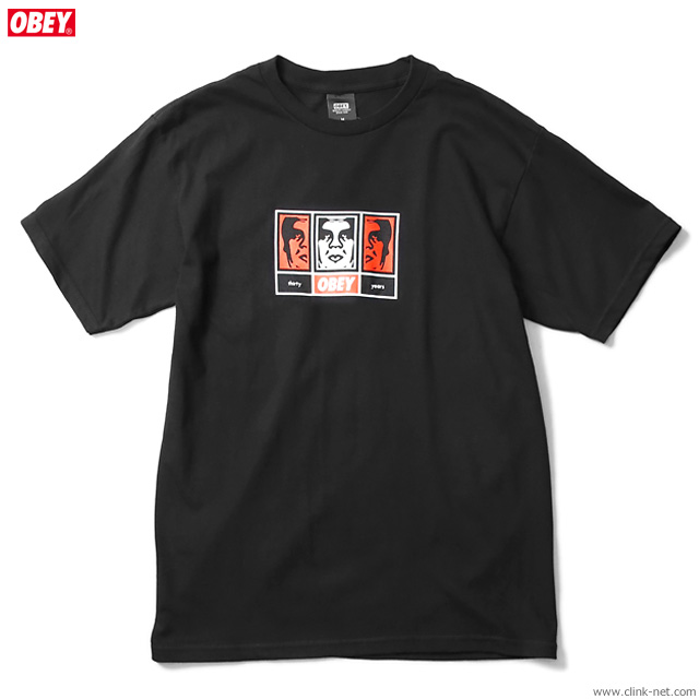 "OBEY BASIC TEE ""OBEY 3 FACES 30YEARS"" (BLACK)"