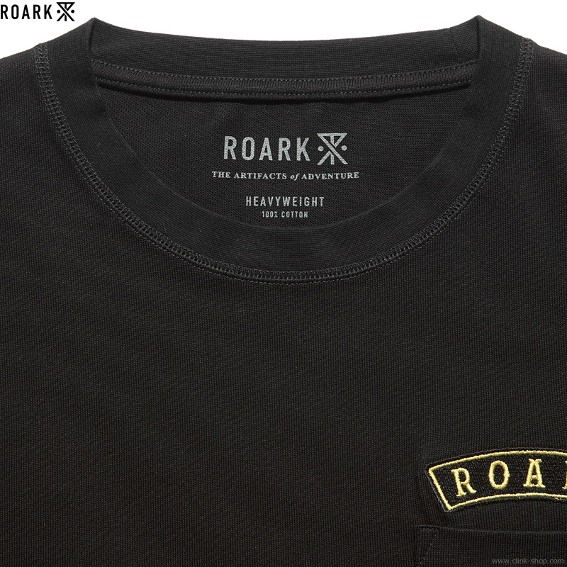 "ROARK REVIVAL ""MEDIEVAL"" 9.3oz H/W POCKET TEE (BLACK)"