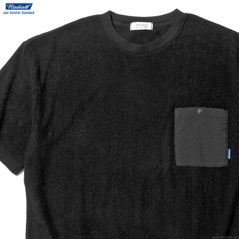 RADIALL BAJA - CREW NECK POCKET T-SHIRT S/S (BLACK)