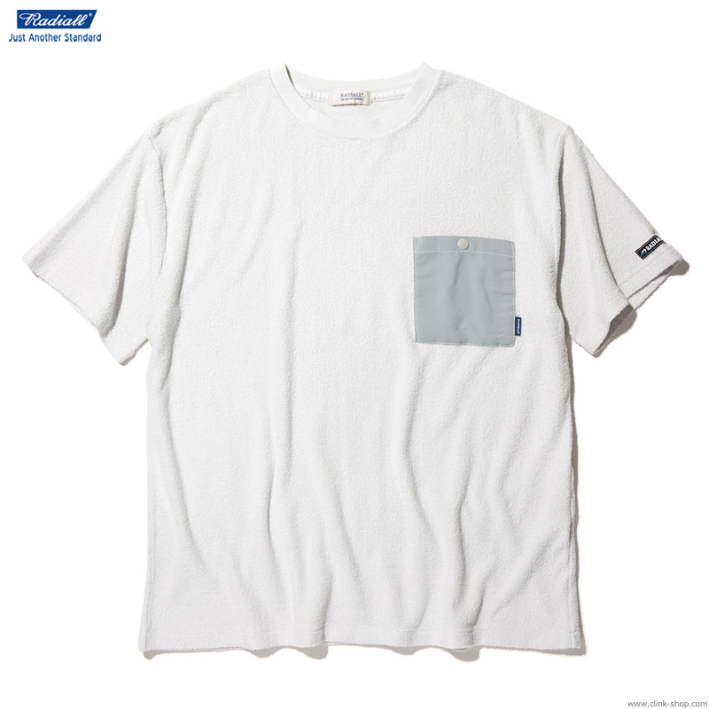 RADIALL BAJA - CREW NECK POCKET T-SHIRT S/S (SNOW WHITE)