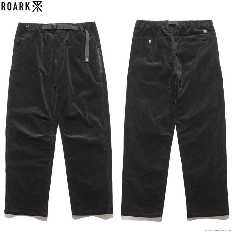 ROARK REVIVAL CORDUROY ST NEW TRAVEL PANTS - RELAX TAPERED (BLACK)