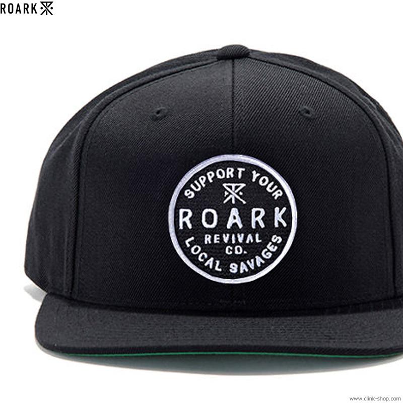 """ROARK REVIVAL """"REVIVAL CO."""" EMBLEM CAP (BLACK)"""