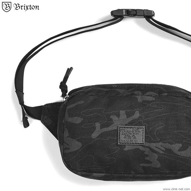 BRIXTON STEWART HIP PACK (BLACK/CAMO)