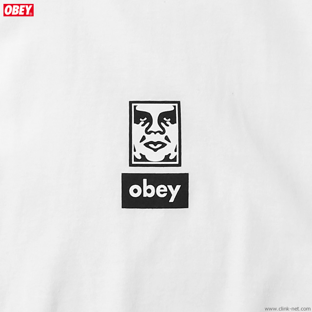 """OBEY BASIC TEE """"OBEY ICON FACES 30YEARS"""" (WHITE)"""