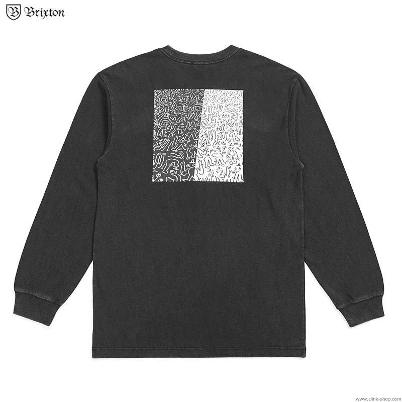 BRIXTON CROWD II ART L/S TEE (BLACK)