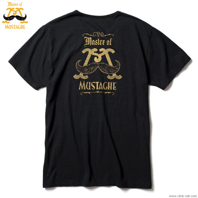 MASTER OF MUSTACHE BACK LOGO-T (BLACK)
