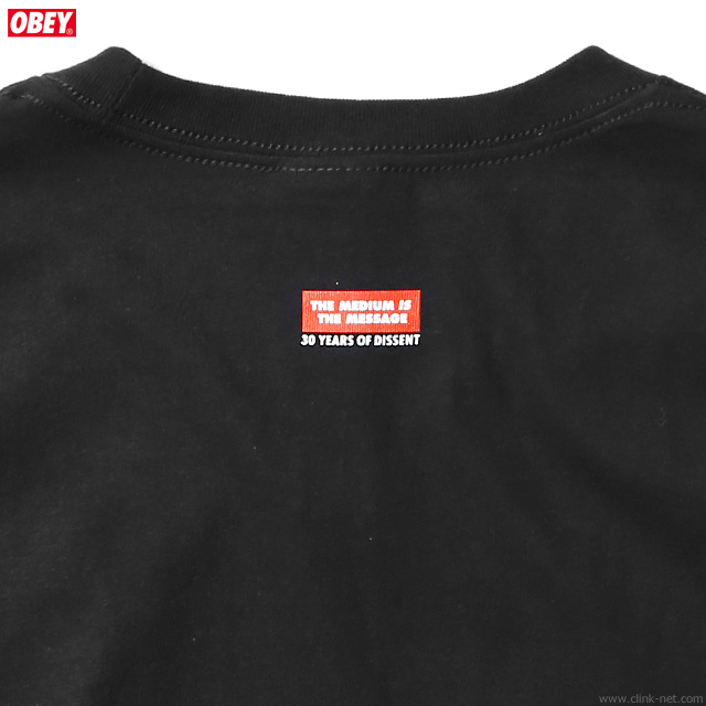 """OBEY BASIC TEE """"OBEY FIST 30YEARS"""" (BLACK)"""