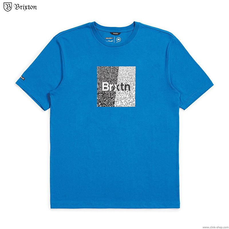 BRIXTON CROWD ART S/S TEE (ROYAL)