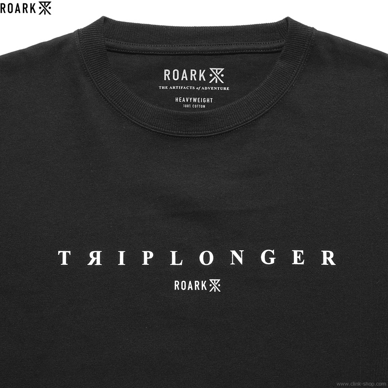 "ROARK REVIVAL ""TRIPLONGER"" 9.3oz H/W TEE (BLACK)"