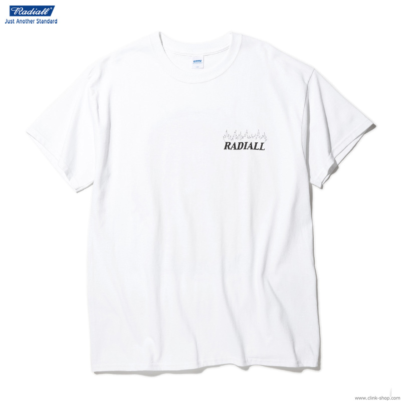 RADIALL HOUR GLASS - CREW NECK T-SHIRT S/S (WHITE)