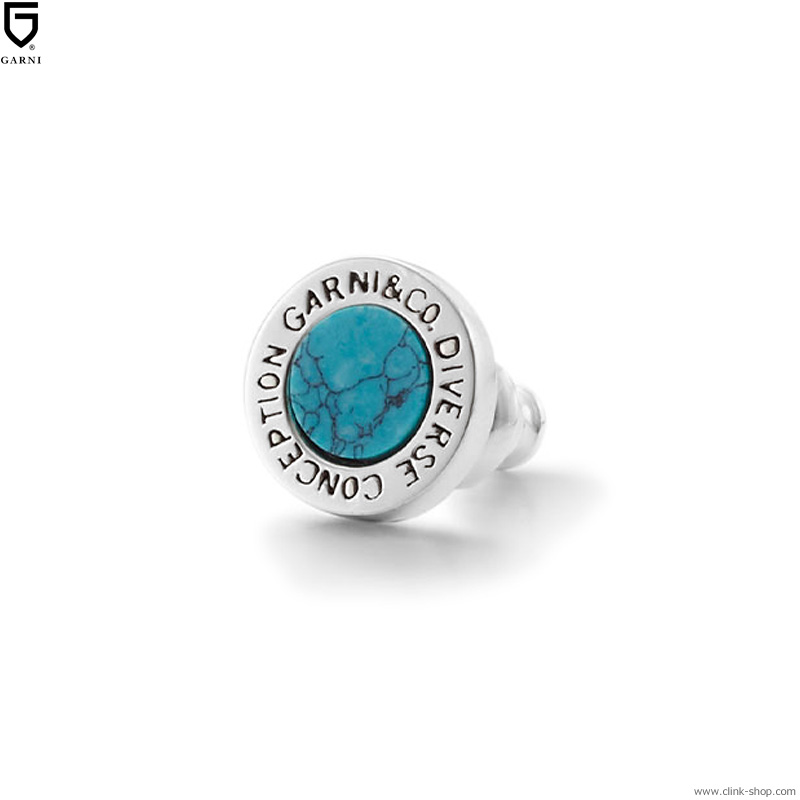 GARNI ROUND STONE PIERCE - BLUE [GP16039]