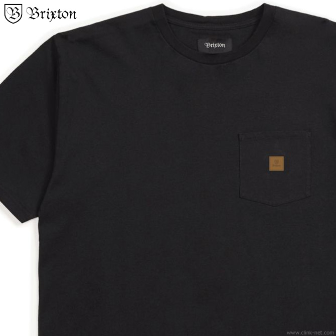 BRIXTON MAIN LABEL S/S POCKET KNIT (BLACK)