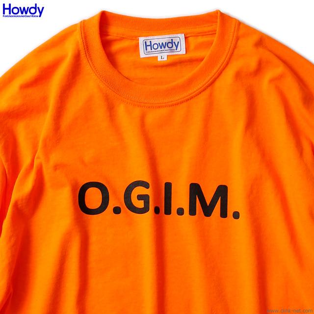 Howdy OGIM LS T (N.ORANGE) [HWD1902-TE01]