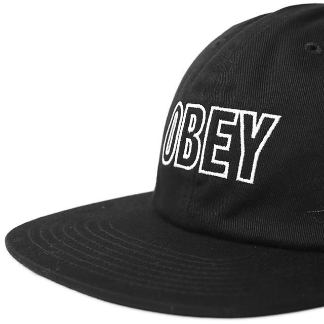 OBEY SPEECHLESS 6 PANEL SNAPBACK (BLACK)
