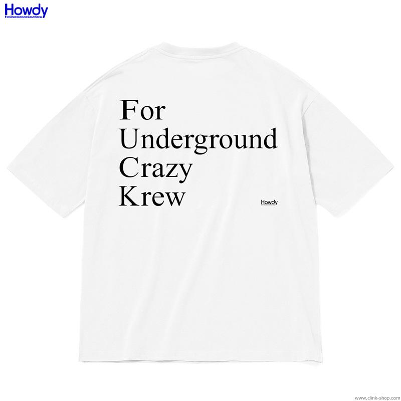 Howdy F.U.C.K. Pocket Big T (WHITE) [HWD2001-TE02]