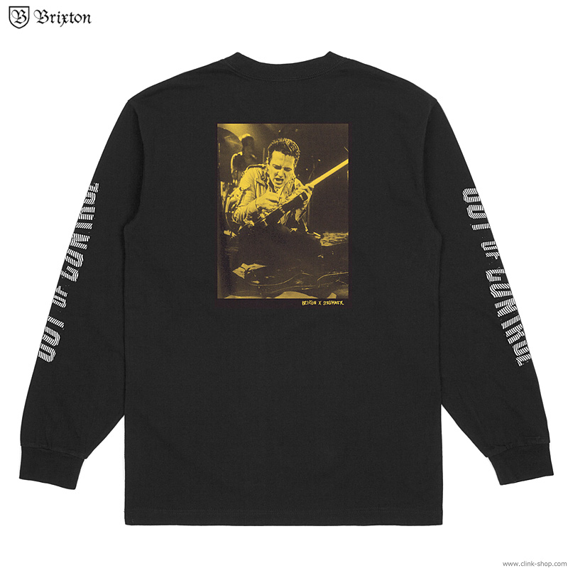 BRIXTON OUT OF CONTROL L/S STANDARD TEE (BLACK) [BRIXTON×STRUMMER]