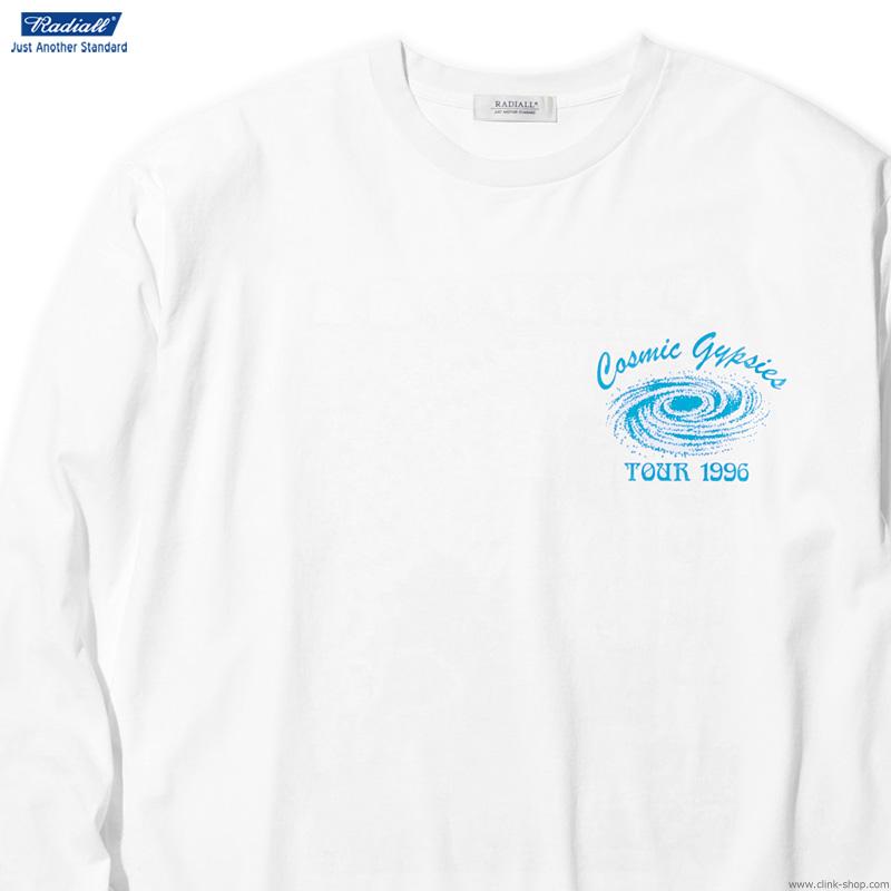 RADIALL COSMIC GYPSIES - CREW NECK T-SHIRT L/S (WHITE)
