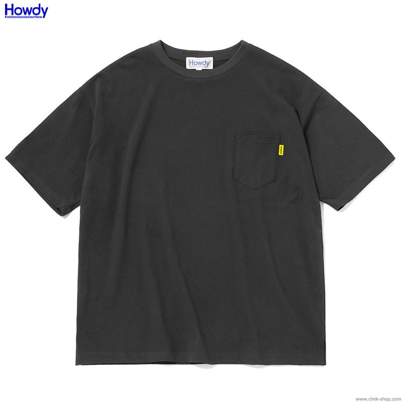 Howdy F.U.C.K. Pocket Big T (BLACK) [HWD2001-TE02]