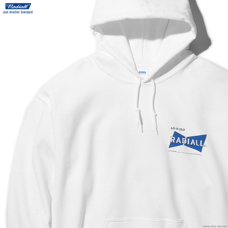 ★SALE★RADIALL BOWTIE - HOODIE SWEATSHIRT L/S (WHITE)