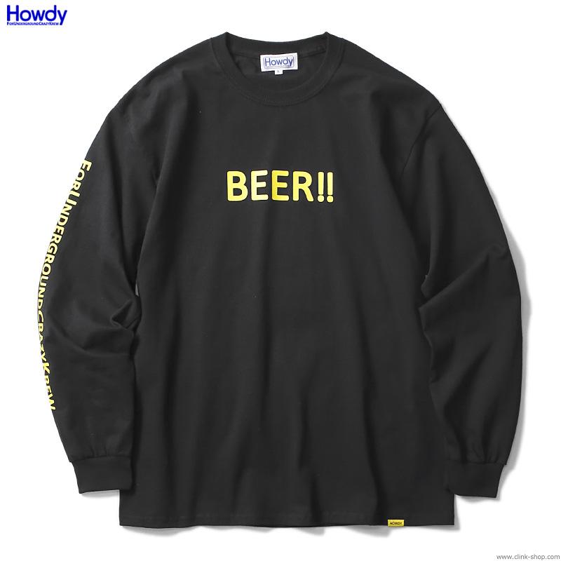 Howdy BEER LS T (BLACK) [HWD2001-TE03]