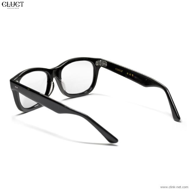 CLUCT 鯖江 SUNGLASSES (BLACK / CLEAR LENS) #02976