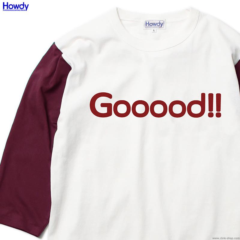 Howdy Gooood BB T (BURGUNDY) [HWD2001-TE04]