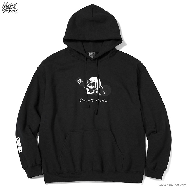 M.S.M.L.-Katsuma EDITION- DON'T TOO MUCH  HOODIE (BLACK) [M201-01K5-CL51]