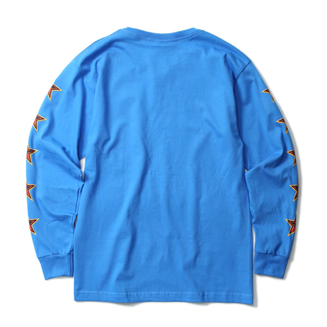 """OBEY BASIC LONG SLEEVE TEE """"OBEY STAR FACE"""" (SKY AZURE)"""