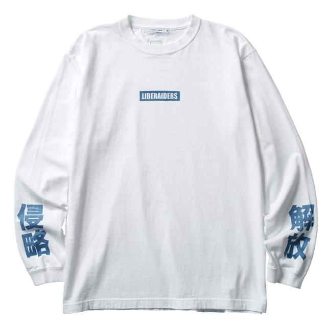 LIBERAIDERS LOGO L/S TEE (WHITE) #77501