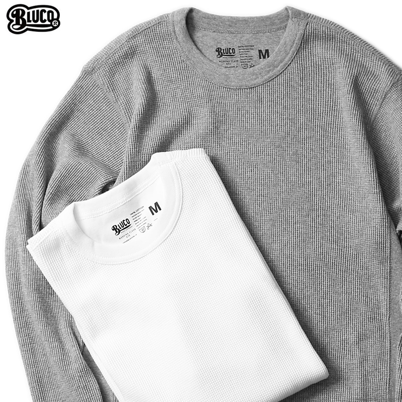 BLUCO 2PAC THERMAL SHIRTS -Set in- A-PACK (IVO/ASH) [OL-014-020]
