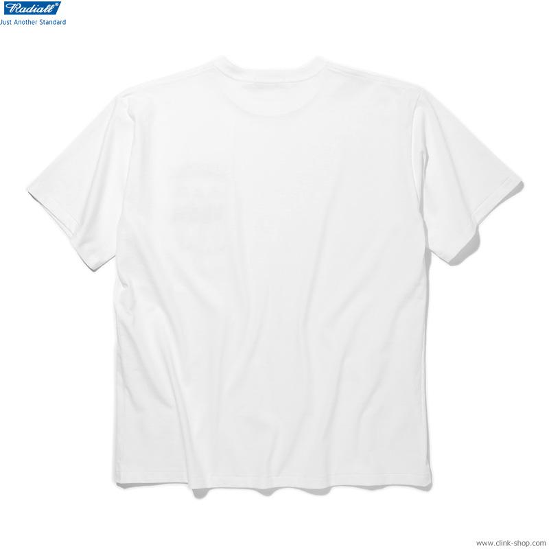 RADIALL BOULEVARD - CREW NECK POCKET T-SHIRT S/S (WHITE)